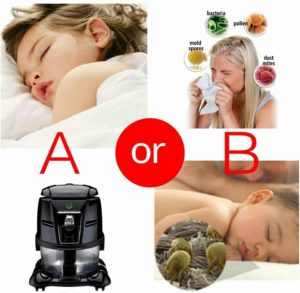 Vodní vysavač pro alrgiky zajistí klednýa zdravý spánek