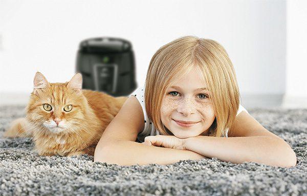 Obrázek nejlepší vodní vysavač Hyla pomáhá dětem s alergií a astmatem