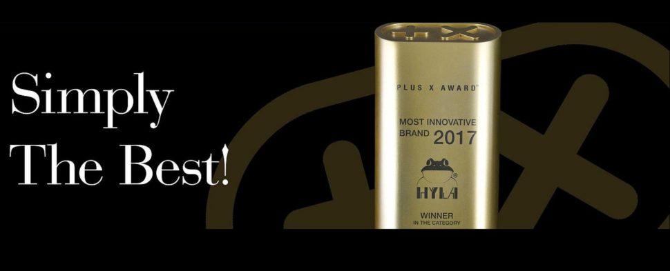 Ocenění PlusXaward jeko nejlepší domácí přístroj na světě best product vodním vysavačům a čističkám Hyla