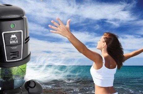 Vodní vysavač Hyla jako čistička vzduchu