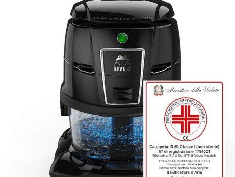 Hyla est vodní vysavač pomáhá jako zdravotní pomůcka při alergii a astmatu
