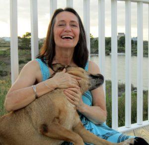 žena se psem dobrá nálada